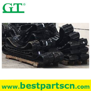 rubber track 450x90x60 rubber crawler track undercarriage for excavator farm